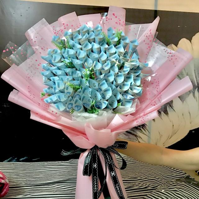 Bó hoa tiền cực đẹp tại shop hoa tươi Bến Tre