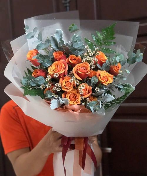 bó hoa tươi bình định