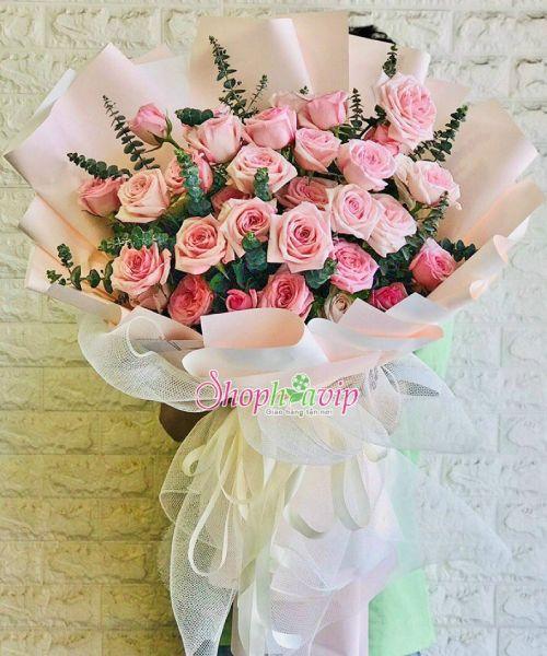 Bó hoa tình yêu tại shop hoa tươi Bắc Tân Uyên