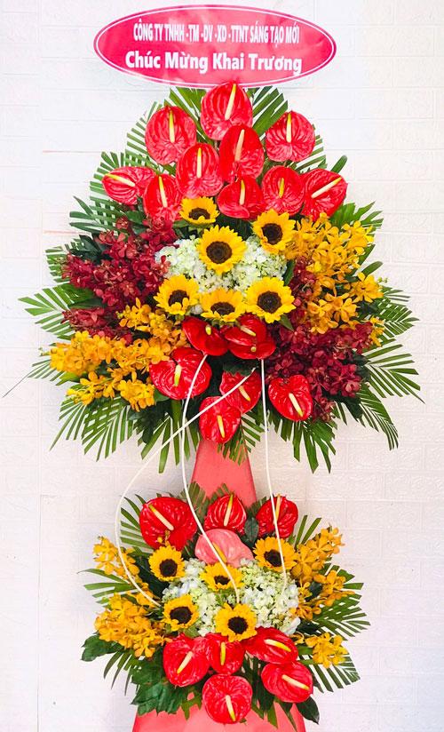 Kệ hoa khai trương tại shop hoa tươi Bình Dương