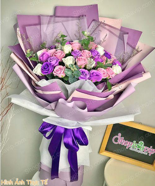 Bó hoa tươi đẹp tại shop hoa tươi Thuận An