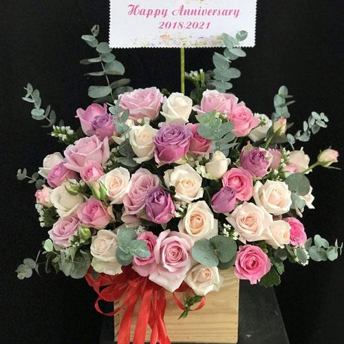 Giỏ hoa hồng mừng sinh nhật