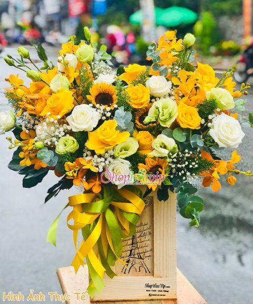 giỏ hoa chúc mừng sinh nhật tại shop hoa tươi Cần Thơ