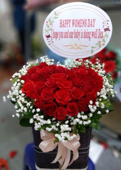 Bó hoa hồng tình yêu tại shop hoa tươi Đăk Lăk