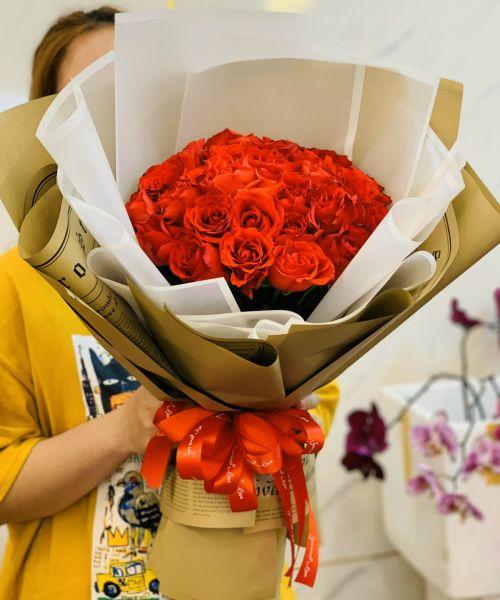 Bó hoa hồng tại shop hoa tươi Đăk Nông