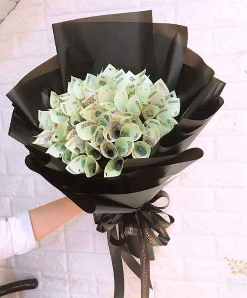 Bó hoa tiền tại shop hoa tươi Điện Biên