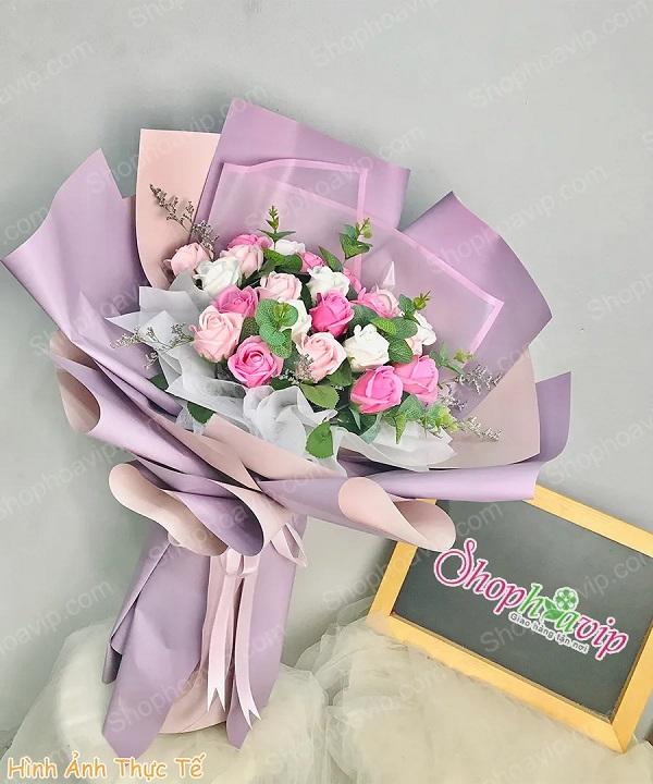 Bó hoa sáp tuyệt đẹp tại shop hoa tươi Định Quán