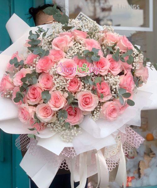 Bó hoa tình yêu tại shop hoa tươi Thống Nhất