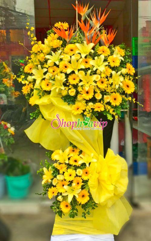 Kệ hoa chúc mừng khai trương tại shop hoa tươi Thống Nhất