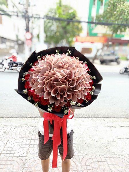 Bó hoa tiền tại shop hoa tươi Hà Nam