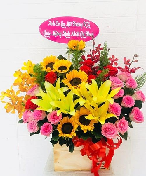 Lãng hoa đẹp chúc mừng sinh nhật Mỹ Đức