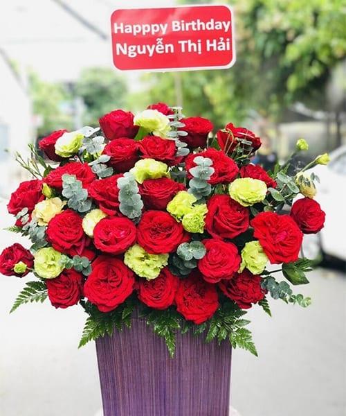 Lẵng hoa đẹp chúc mừng sinh nhật Phúc Thọ