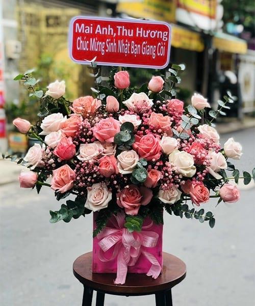 Giỏ hoa sinh nhật Thường Tín