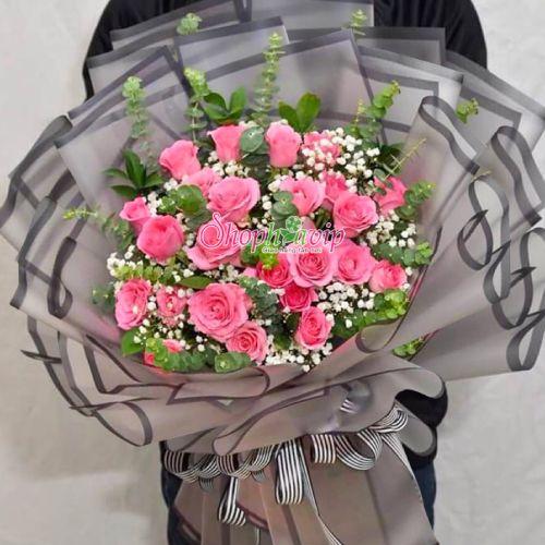 Bó hoa hồng tình yêu tại shop hoa tươi Hải Dương