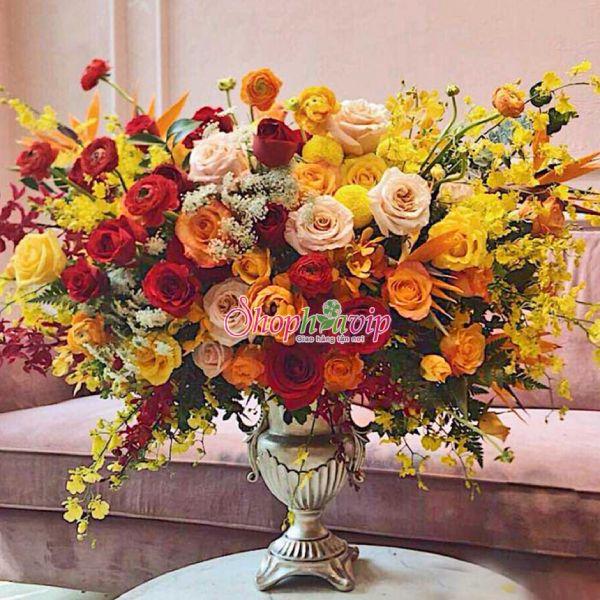 Giỏ hoa đẹp tại shop hoa tươi Hải Dương