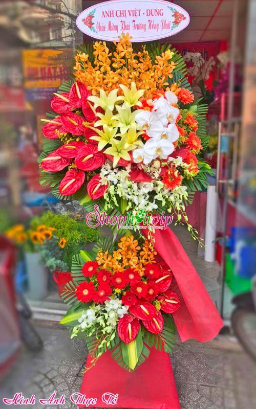 Kệ hoa chúc mừng khai trương tại shop hoa tươi Hải Dương