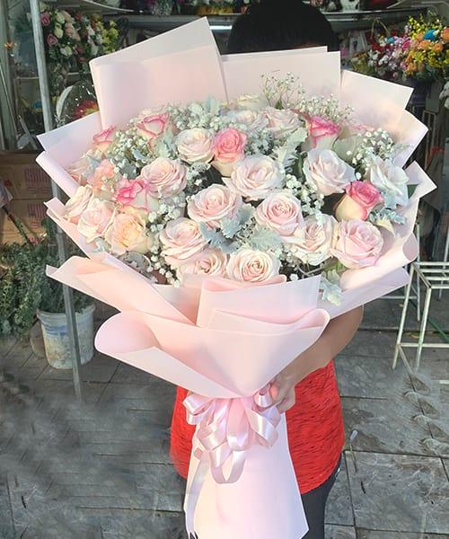 Bó hoa đẹp tại shop hoa tươi Hượng Trà