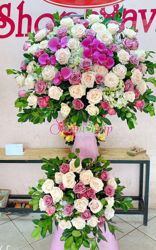 Kệ hoa chúc mừng khai trương tại shop hoa tươi Hưng Yên