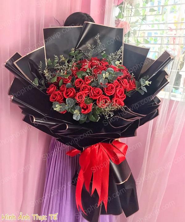 Bó hoa sáp tại shop hoa tươi Khánh Hòa