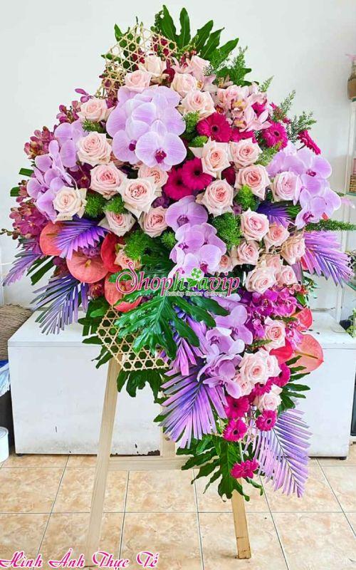 Kệ hoa chúc mừng khai trương tại shop hoa tươi Khánh Hòa