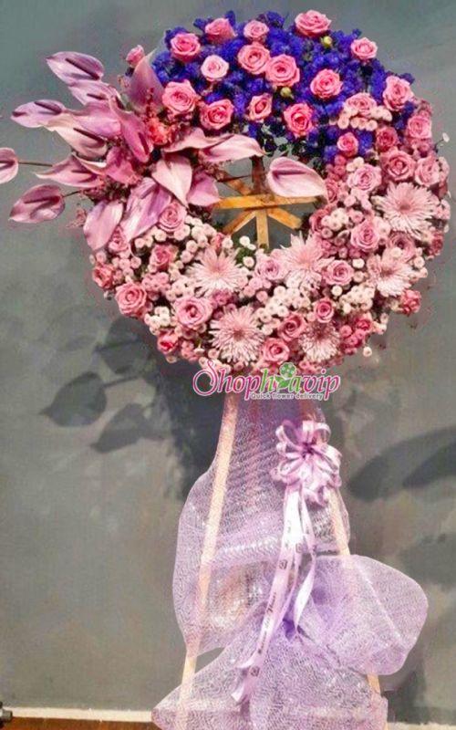 Kệ hoa tang lễ tại shop hoa tươi Kon Tum