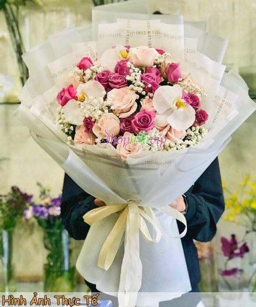 Bó hoa hồng tình yêu tại shop hoa tươi Lâm Đồng