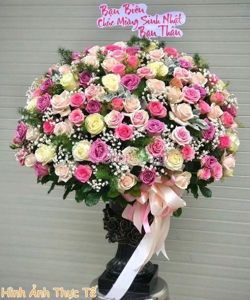 Giỏ hoa chúc mừng sinh nhật tại shop hoa tươi Lâm Đồng
