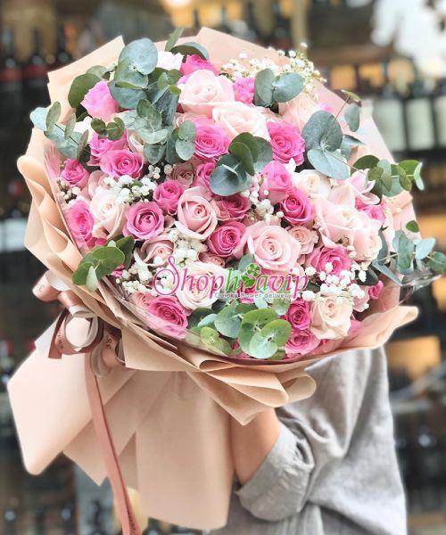 Bó hoa tình yêu tại shop hoa tươi Lào Cai