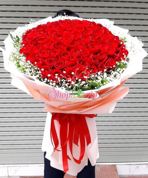 Bó hoa tình yêu tại shop hoa tươi Long An