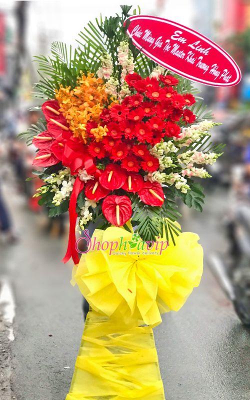 Hoa chúc mừng khai trương tại shop hoa tươi TP Long Khánh