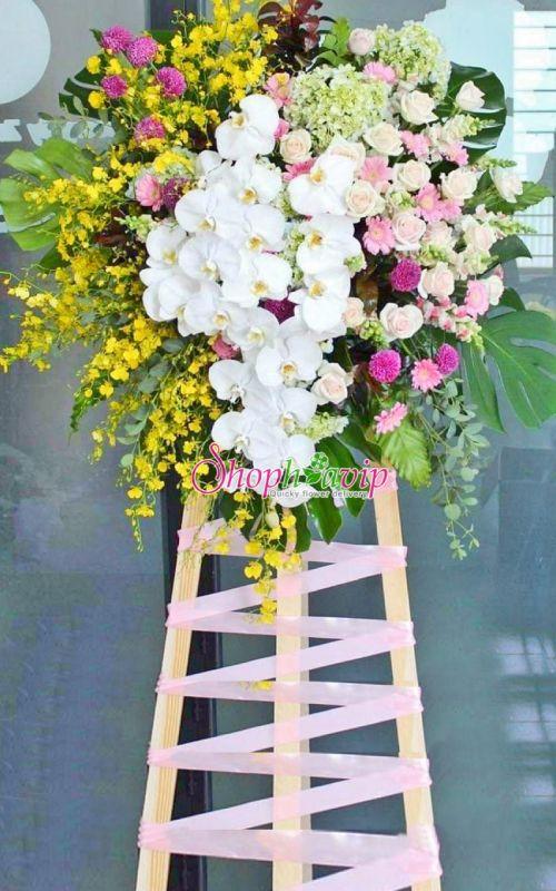 Kệ hoa chúc mừng khai trương tại shop hoa tươi Nam Định