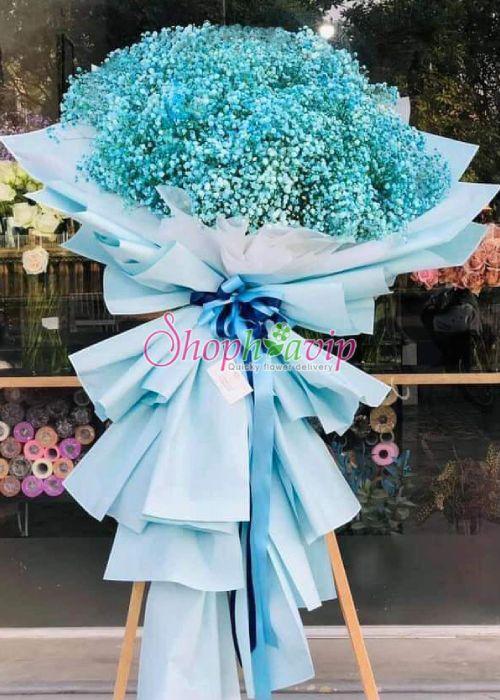 kệ hoa chúc mừng khai trương tại cửa hàng hoa tươi Ninh Bình
