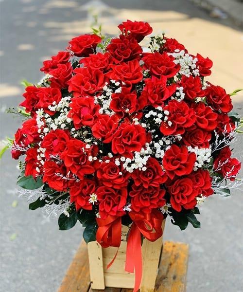 Giỏ hoa tươi đẹp tại shop hoa tươi Sóc Trăng