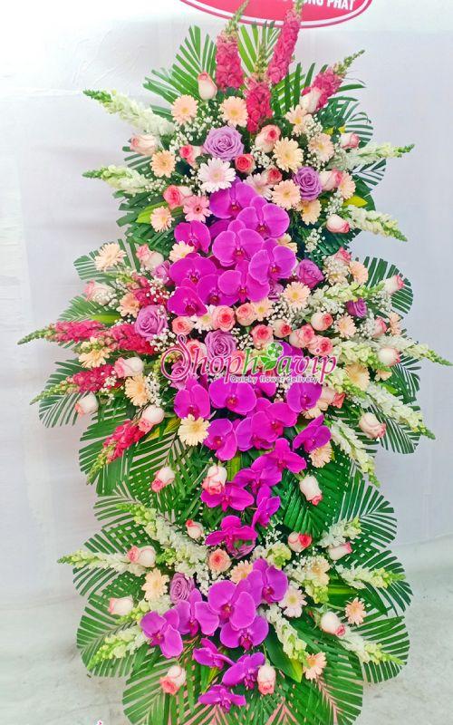 Kệ hoa chúc mừng khai trương tại shop hoa tươi Sơn La