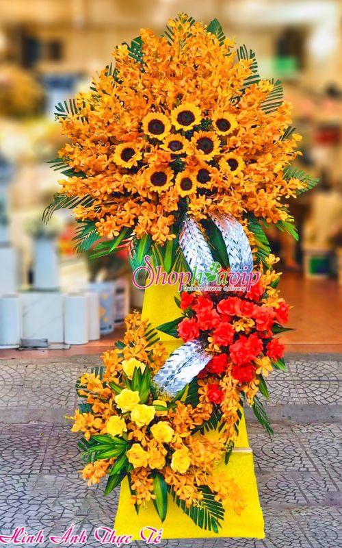 Kệ hoa chúc mừng khai trương tại shop hoa tươi Thái Bình