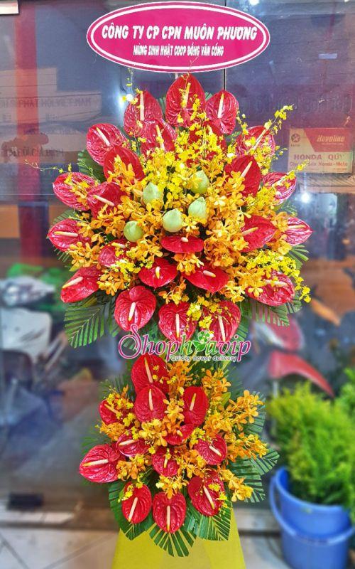 Kệ hoa chúc mừng khai trương tại shop hoa tươi Thái Nguyên