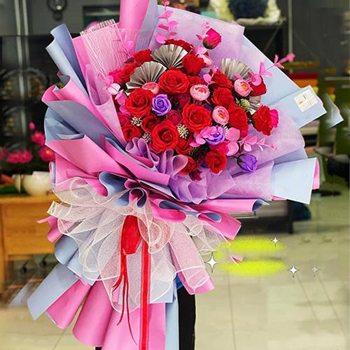 Bó hồng đỏ đẹp