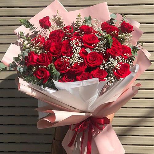 Bó hồng đỏ Shop hoa tươi Thủ Đức